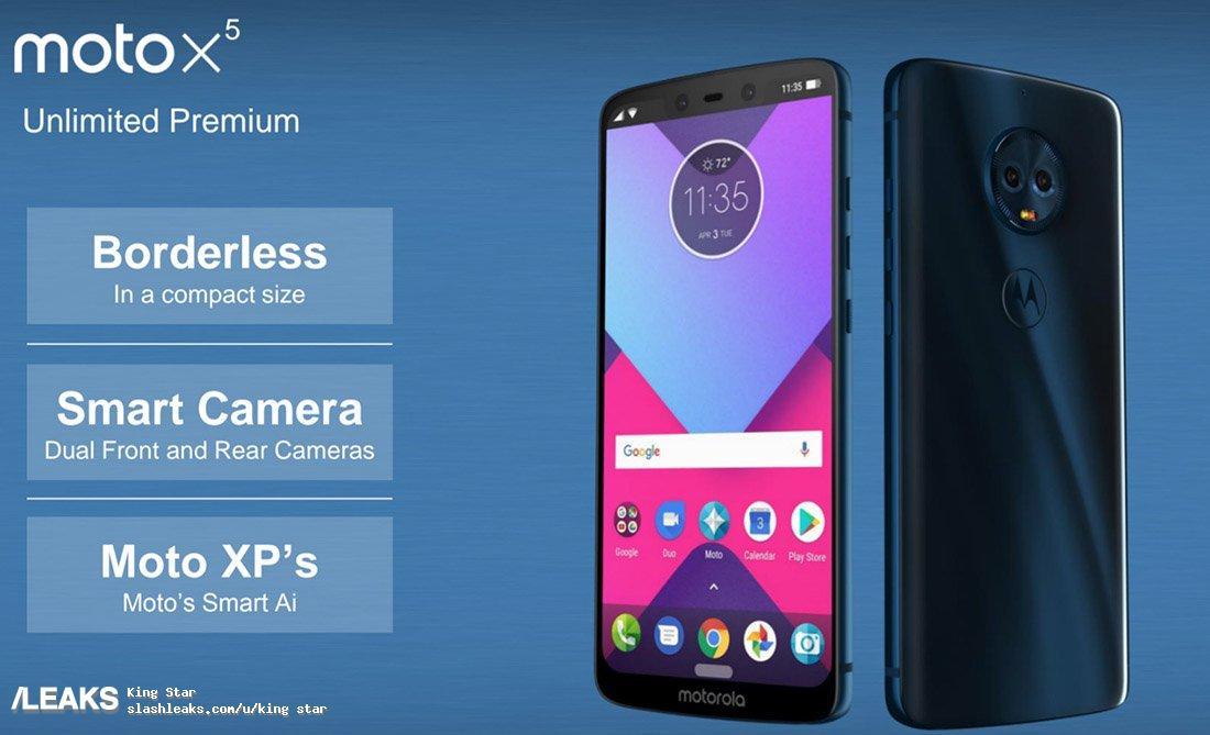 Moto X5 specs