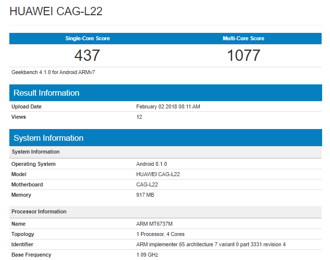 Huawei Y3 Specs