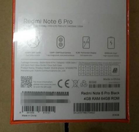 Xiaomi Redmi Note 6 Pro Specs