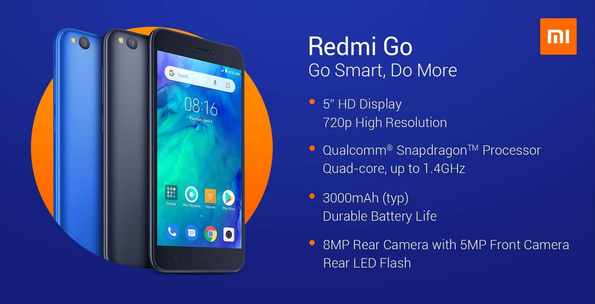 Redmi Go Specifications