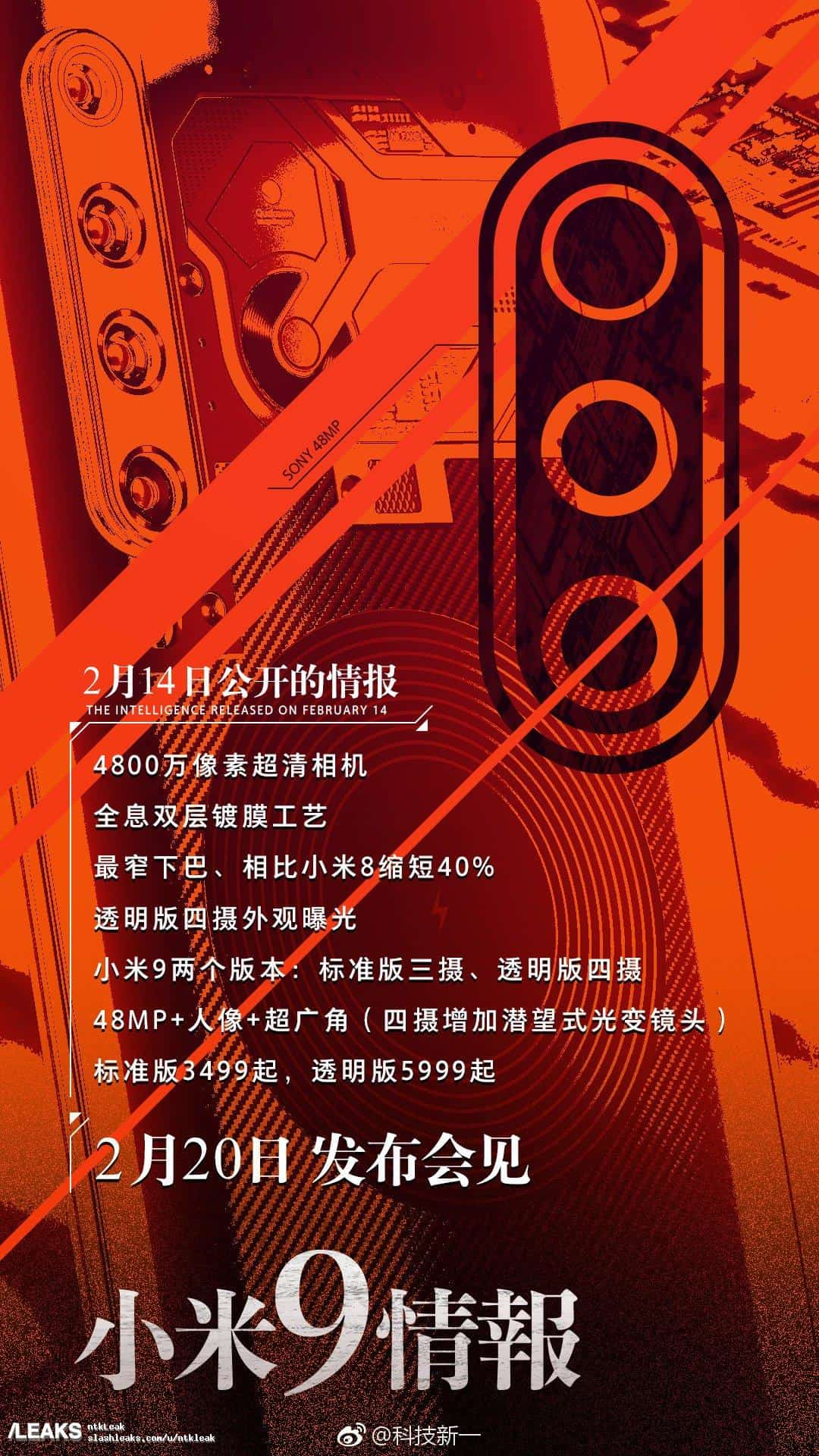 Xiaomi Mi 9 Price and Specs