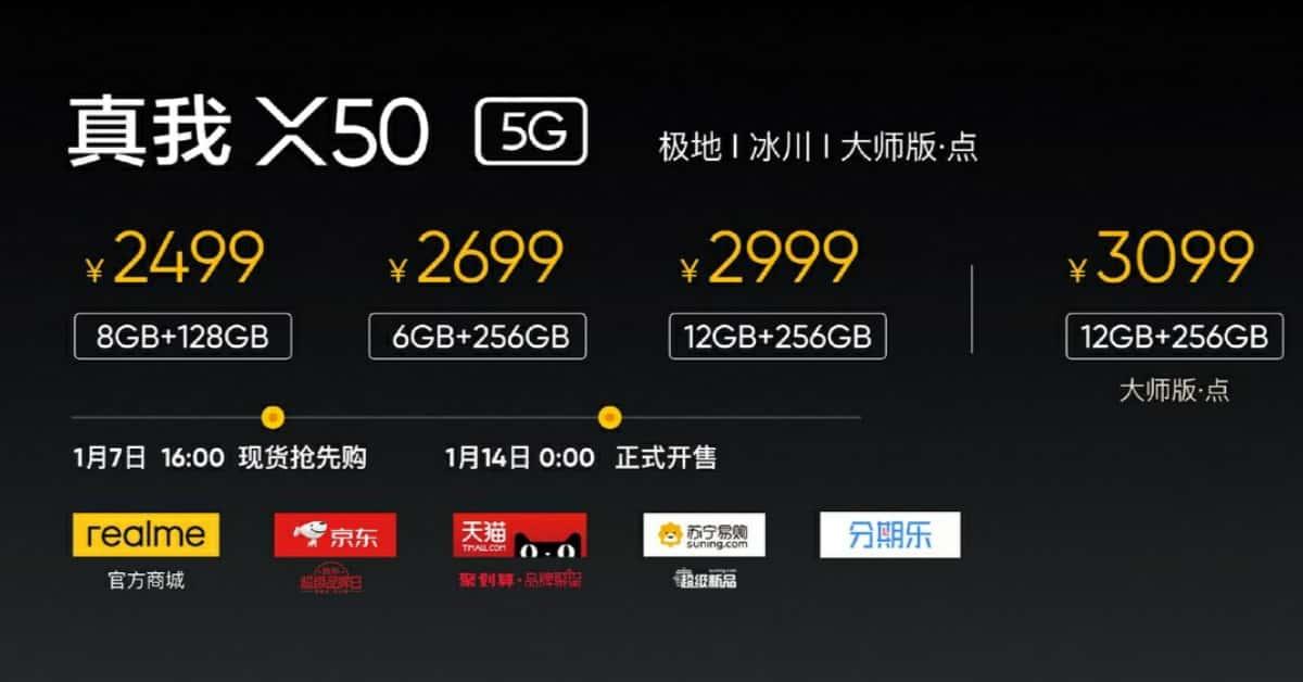 Realme X50 Price